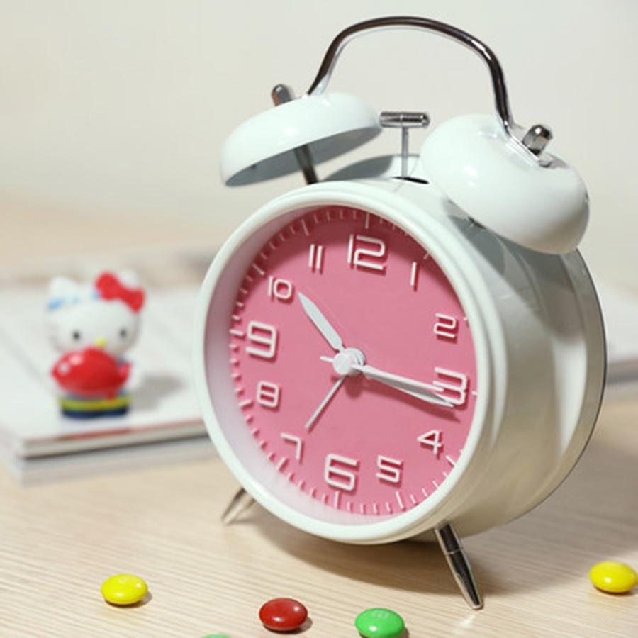 Creative Kids Digital Table Alarm Clock Silent Bedside Multifunction Desk Metal Clocks Saat Erkekler Office Gadgets 50Z0056