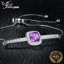 JewelryPalace 925 Sterling Silver Adjustable Bracelets Cubic Zirconia Love Heart Silver Bracelets for Girls Women Ladies Jewelry jewelrypalace elegant 2 43ct created alexandrite sapphire cubic zirconia halo adjustable bracelets for women 925 sterling silver
