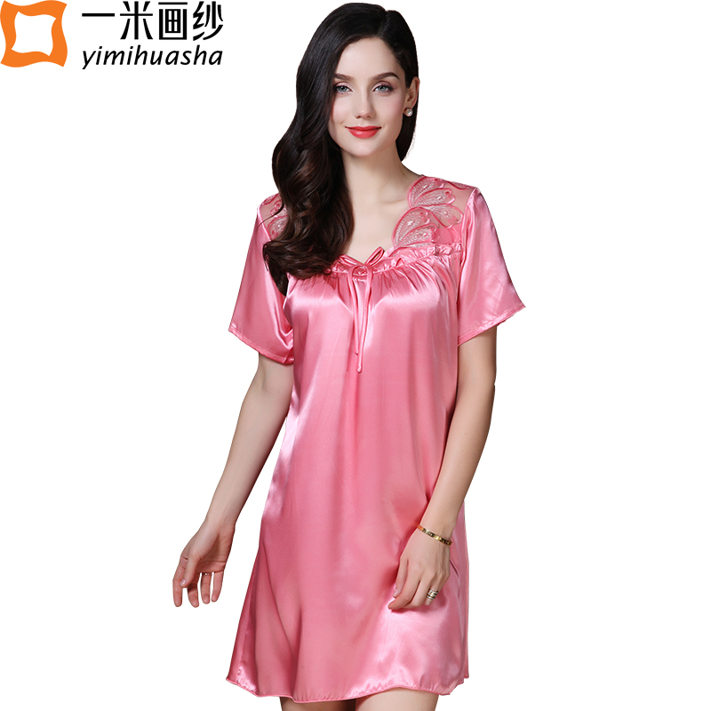 Sleeping Gown: New Winter Women Nightgown Short Sleeve Nightdress Sexy V