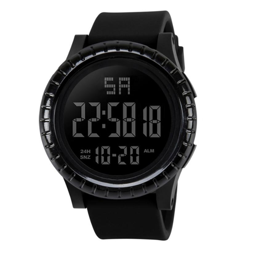 Digital Watch Top Brand Luxury Silicone Band LED Digital Wristwatches Black Fashion Mens Sports Watches Relojes Hombre Dec06