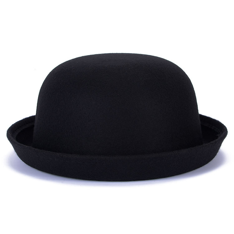 ca7f873c01a 2017 Vogue Ladies Women Kids Fedoras Vintage Bowler Derby Trilby Bowknot  Party hats Clothe Lady Girls Homburg Billycock caps-in Fedoras from Apparel  ...