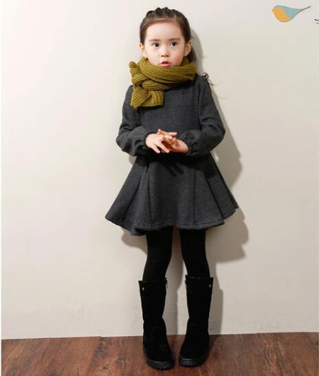 Осенне-зимнее утепленное платье для девочек; Хлопковые вечерние платья с краями листьев лотоса; vestidos; Карнавальный костюм для детей; Модное ...