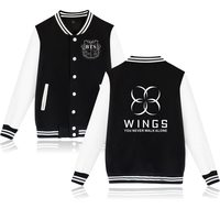 ASAS de BTS Bangtan LUCKYFRIDAYF Novo casaco Jaqueta de Beisebol Kpop hoodies camisolas Casacos Para mulheres/homens do hoodie
