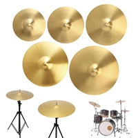 Zebra 12 14 16 18 20 Inch Brass Ride Hi Hat Crash Drums Cymbals Drums Parts