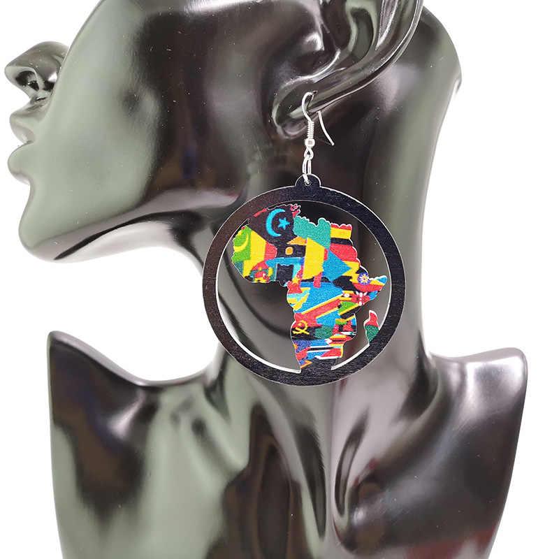 YD & YDBZ НОВЫЕ геометрические серьги из дерева женские большие серьги Леопардовый питоновый узор Панк ювелирные изделия новые модные висячие серьги оптом