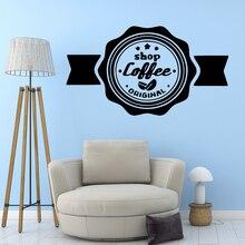 Creative coffee Art Sticker Waterproof Wall Stickers Decals Diy Home Decoration Accessories