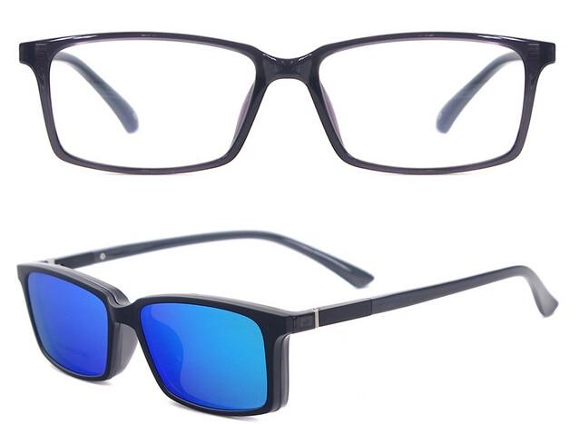 Polarized Prescription Sunglasses TR90 Optical Frames Men Glasses Frames Branded Magnetic Clip On Sunglasses