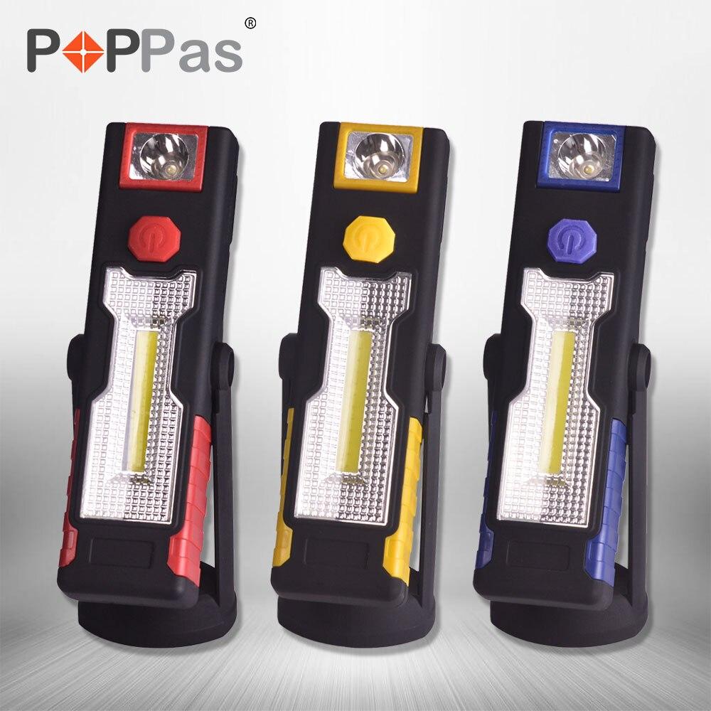 Poppas Мирко USB свет работы 8 + 1 светодиодный контроль лампы руки факел Перезаряжаемые с зарядка через USB Порты и разъёмы Поворотный магнитный зажим