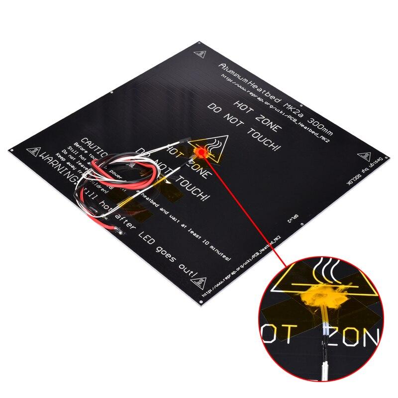 MK2A 300*300*3.0mm RepRap rampes 1.4 PCB plaque chauffante en aluminium pour lit chauffant Mendel pour imprimante 3D MK2B lit chaud - 3