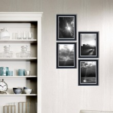 Giftgarden 5x7 Picture Frame Set Wall Photo Black Desktop Poster Home Decoration Accessories, of 4