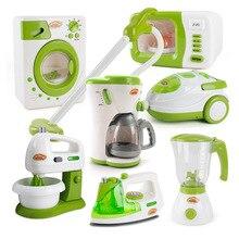 Мини кухонные игрушки электронная железная соковыжималка кофе машина стиральная машина пылесос блендер бытовая техника игрушки