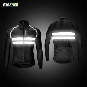 Image 3 - WOSAWE Cycling Jacket High Visibility MultiFunction Jersey Road MTB Bike Bicycle Windproof Quick Dry Rain Coat Windbreaker