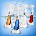 Hot Sale lady Electric wash face brush exfoliator Facial Pore Cleaner Body facail Cleaning brush Skin Massager face beauty tool