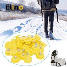 Elino 30 шт./компл. противоскользящие зимние шипы против льда зажимы зубы гвозди для Для мужчин Женские ботинки крышка Пластик кошки