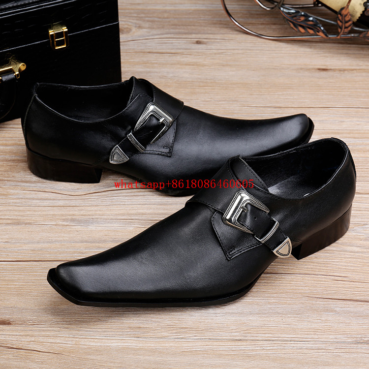 Choudory Chaussures hommes mens shoes genuine leather high heels black prom shoes formal dress wedding shoes factory direct