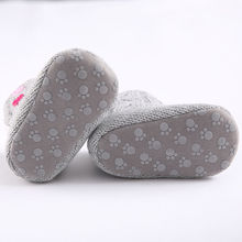 New Winter Super Warm Newborn Girl Baby Prewalker Keep Warm Shoes Boots Infant Toddler Princess Bebe Crib Snow Knitting Booty