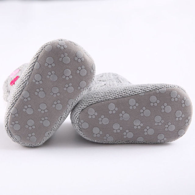 New Winter Super Warm Newborn Girl Baby Prewalker Keep Warm Shoes Boots Infant Toddler Princess Bebe Crib Snow Knitting Booty