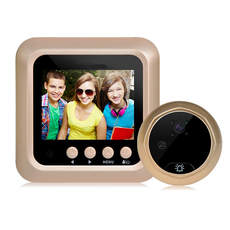 2.4inch Wireless doorbell Door Security Digital Color Screen Door Peephole Camera Door Eye Video recorder Hidden Cat Eye Head x5 home smart doorbell security door peephole camera electronic cat eye and hd pixels tft color screen display audio door bell