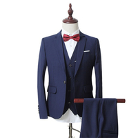 Three Sets Of Business And Leisure Professional Formal Groom Dress Code Men S Suit