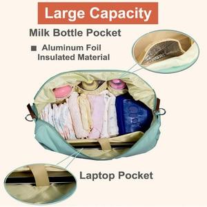 Image 3 - Pyeta ためのおむつ袋のスタッフアクセサリ、のためのママトラベルショルダーバッグ、おむつバッグボルサ maternidade ベビーケアのための