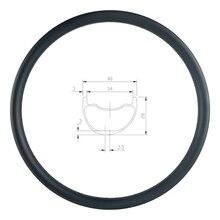 29er MTB AM ENDURO 40mm asymetryczna obręcz węglowa 28mm głębokie clincher bezdętkowe UD 3K 12K matowy błyszczący 24H 28H 32H 36H hookless wheel