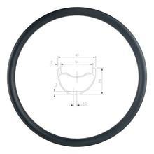 29er MTB AM ENDURO 40mm asymmetric carbon rim 28mm deep clincher tubeless UD 3K 12K matte glossy 24H 28H 32H 36H hookless wheel