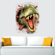ديناصور ملصقات للإزالة الأخضر ثلاثية الأبعاد ملصق دينو اللوحة ديكور المنزل صورة للأطفال سيارة الزخرفية ملصقات ديكور لتزيين الغرف