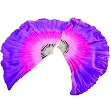 1 пара шелковые веера для танца живота