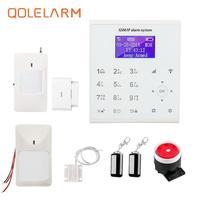 QOLELARM U8 LCD wifi gsm alarm system house security alarm with ip Home Burglar Security Protection intruder alarm system wi fi