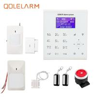QOLELARM U8 LCD wifi gsm alarm system house security alarm with ip Home Burglar Security Protection intruder alarm system wi fi
