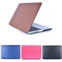 Oppervlak lederen stok skin laptop bag/mouw shell hard cover case voor apple macbook air 11 13, pro 13, Retina 12 13