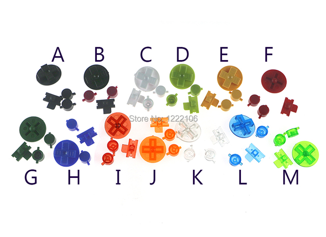 ChengChengDianWan Multi Color Buttons for Gameboy Classic GB Keypads for GBO DMG DIY for Gameboy A B buttons D pad 100sets/lot