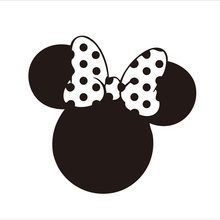 MINNIE MOUSE Party Decorations Decal Sticker For Girls Birthday Party Baby Show Glass Art Decor ,12pcs/lot
