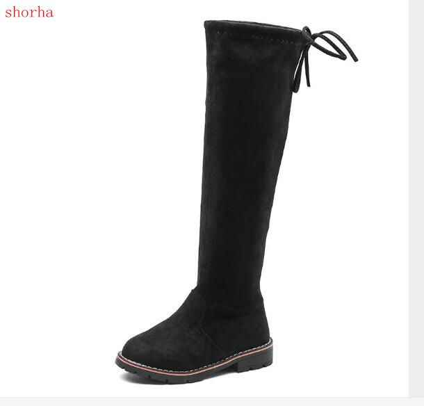 New Children Over Knee Boots Girl Shoes Knee Fashion Children Boots Autumn And Winter Princess Girls Students  Shoes