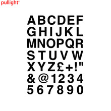 16.2*23CM ALPHABET LETTERS & NUMBERS Personalized Custom Car Sticker Classic Vinyl Body Decals