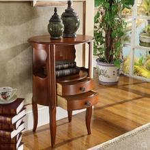 Американский кантри ретро спальня с двумя ящиками прикроватный Шкаф Европейский стиль шкафы круглый декоративный цельный деревянный классический маленький