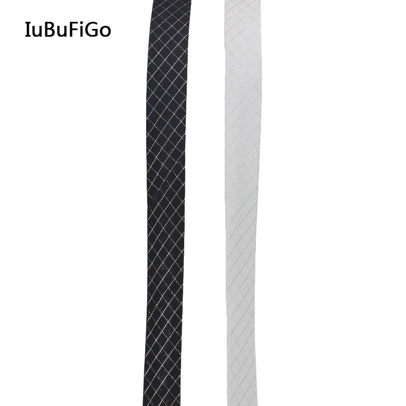 Полиэстер 3/4 (20 мм) проверьте скотч решетки серебристого металла смещения ленты Bia привязки резки в сложенном виде лента швейные и обрезки ...