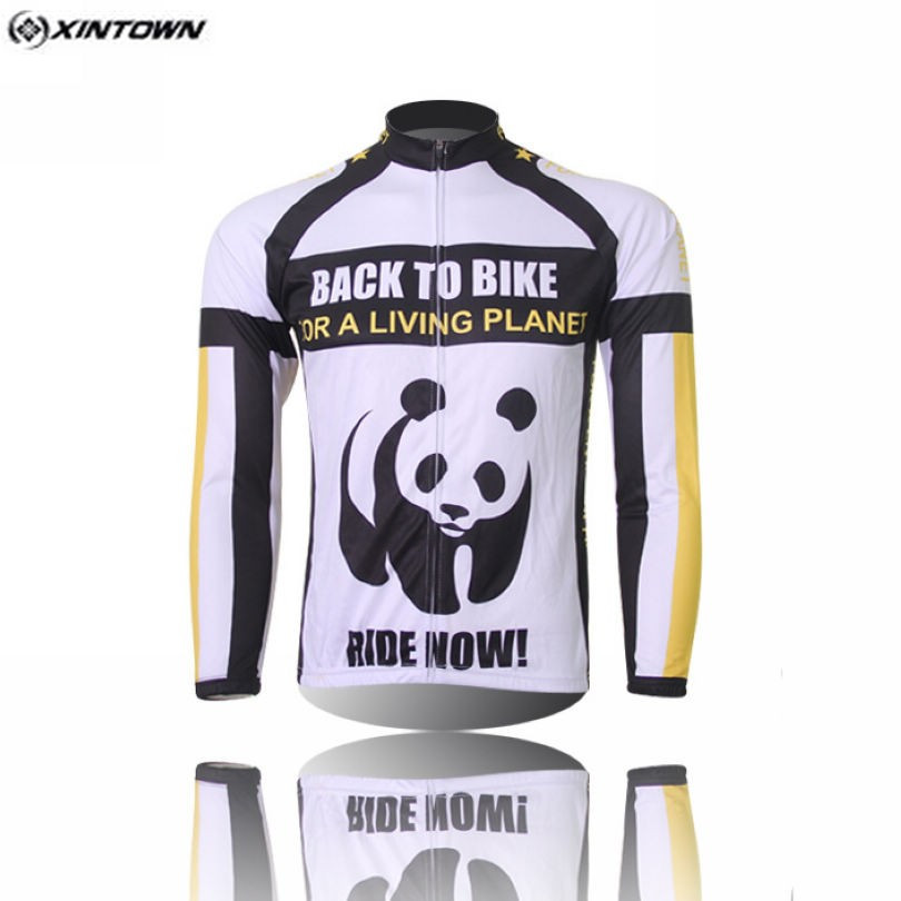 Hot XINTOWN Panda Bike Long jersey MTB Team Cycling clothing Riding Bicycle Top Wear Men Maillot Long Sleeve Ropa Ciclismo