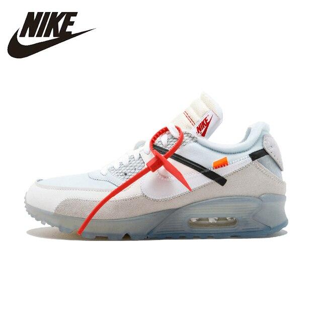 NIKE AIR MAX 90 ¡Original Mens zapatos transpirables la estabilidad calzado Super luz zapatillas de deporte para hombres zapatos