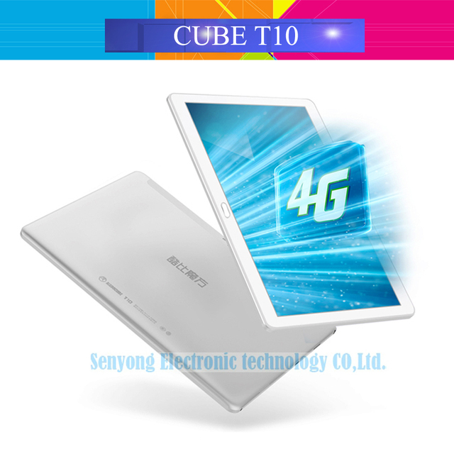 Оригинал Cube T10 Двойной 4 Г Телефон Tablet PC 10.1 ''IPS 1920x1200 Android 6.0 MT8783 Octa Ядро WCDMA Bluetooth Двойная Камера 2 ГБ/32 ГБ