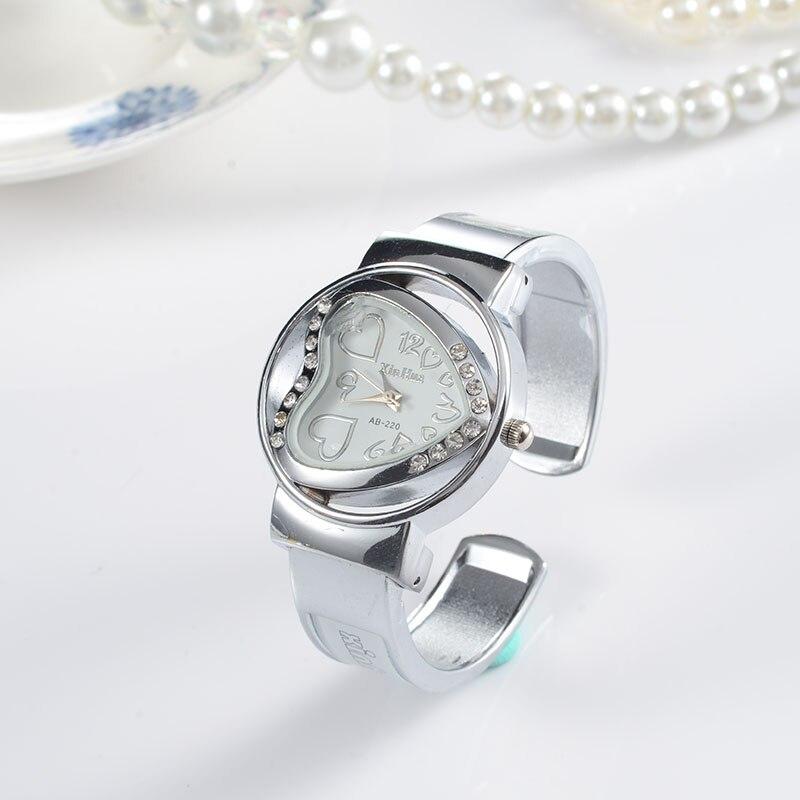 Heart Bracelet Watch Women Luxury Women's Watches Rhinestone Ladies Watch Women Watches Clock Zegarek Damski Reloj Mujer