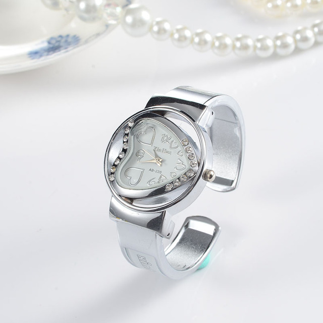 Heart Bracelet Watch Women Luxury Women's Watches Rhinestone Ladies Watch Women