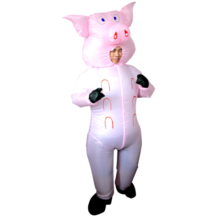 Kids Children Boys Girls Inflatable Farm Animal Pig Fancy Dress Costume Outfit