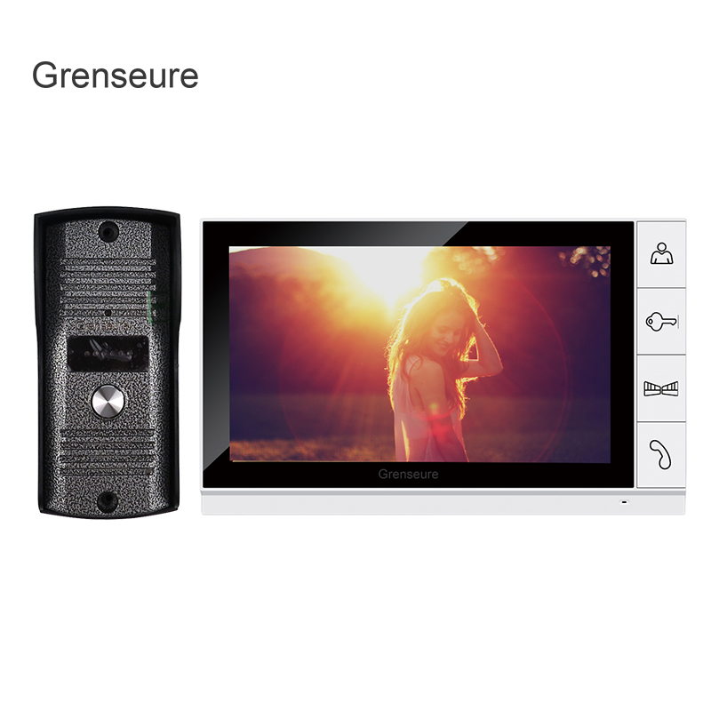 FREE SHIPPING Home Security 9 inch TFT LCD Monitor Video Door phone Intercom System With Night Vision Outdoor Camera IN STOCK tmezon 4 inch tft color monitor 1200tvl camera video door phone intercom security speaker system waterproof ir night vision 1v1