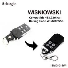3 قطعة Wisniowski التحكم عن بعد استبدال 433MHz رمز المتداول Wisniowski مفتاح سلسلة التحكم عن بعد شحن مجاني