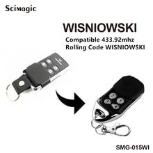 3pcs Wisniowski รีโมทคอนโทรลเปลี่ยน 433MHz Rolling Code Wisniowski Key Chain Remote Control