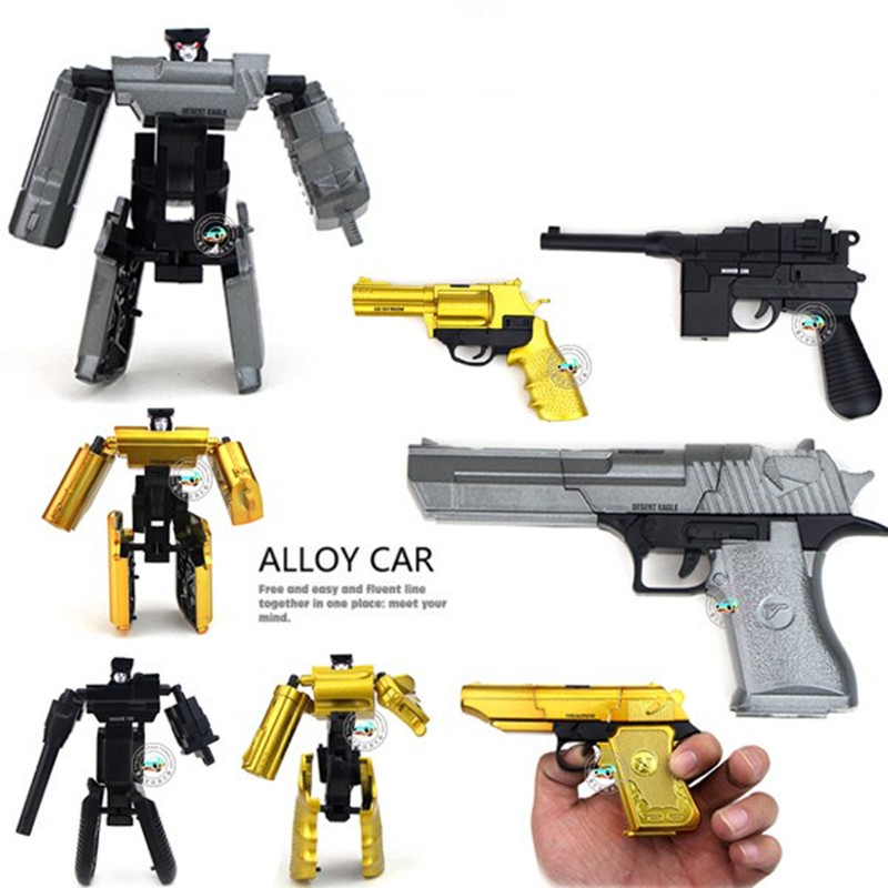 Snaen Transformation G1 KO Assembly Gun Robot Military Model Metal Alloy Action