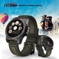COCOTINA Открытый Спорт Смарт часы круглые Экран Нержавеющаясталь циферблат часов для катания lsb01175