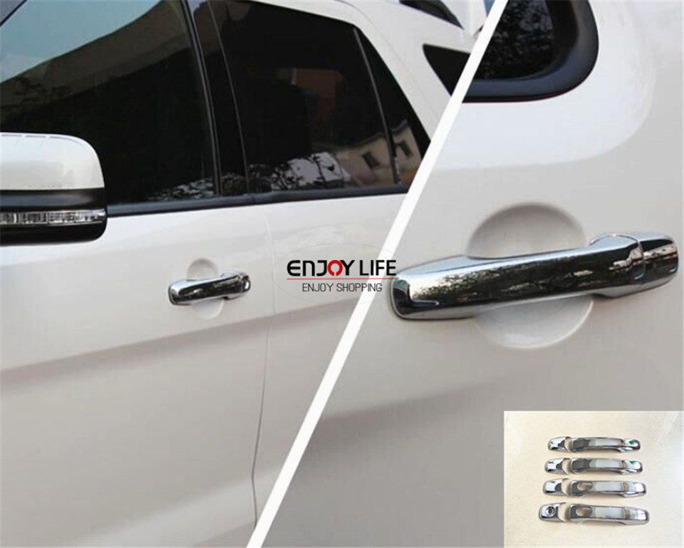 Buy 8pcs Exterior Abs Chrome Car Door Handle Cover Trim With Smart Key Hole For