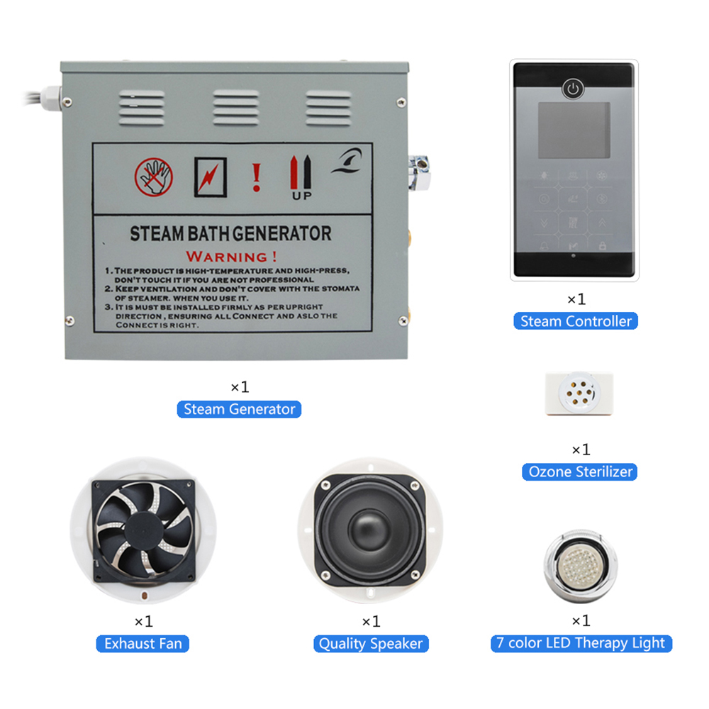 AC 110V CE Certified Remote Controlled 4.5KW Home Use Steam Control Pad Sauna Spa Bath Metal Generator For Bathroom Shower
